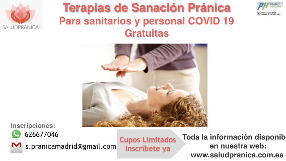 Terapias para personal sanitario y primera linea en COVID 19