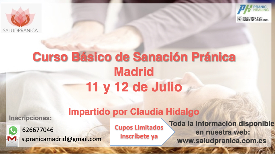 Curso Básico Sanación Pranica 11 y 12 de Julio