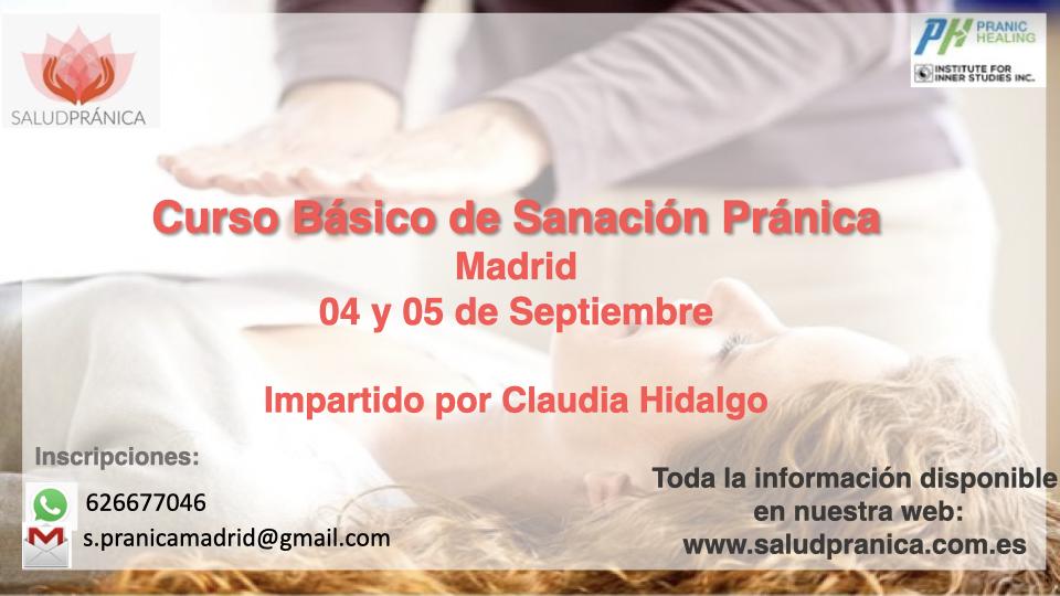 Curso Básico de Sanación Pránica 04 y 05 de Septiembre 2021